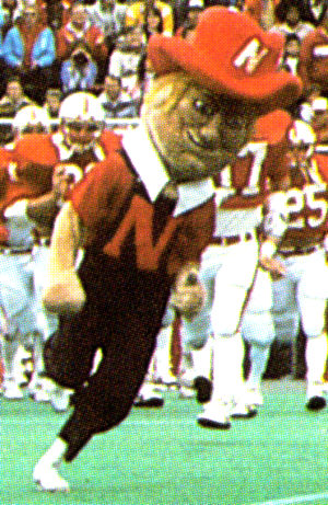 This is a look at Herbie Husker from the 1984 season. He has appeared in many variations over the years. Click the Herbie link below to get a view of him in the early 1990s.